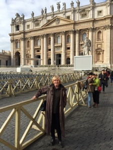 JM in front of St Peter's Basilica